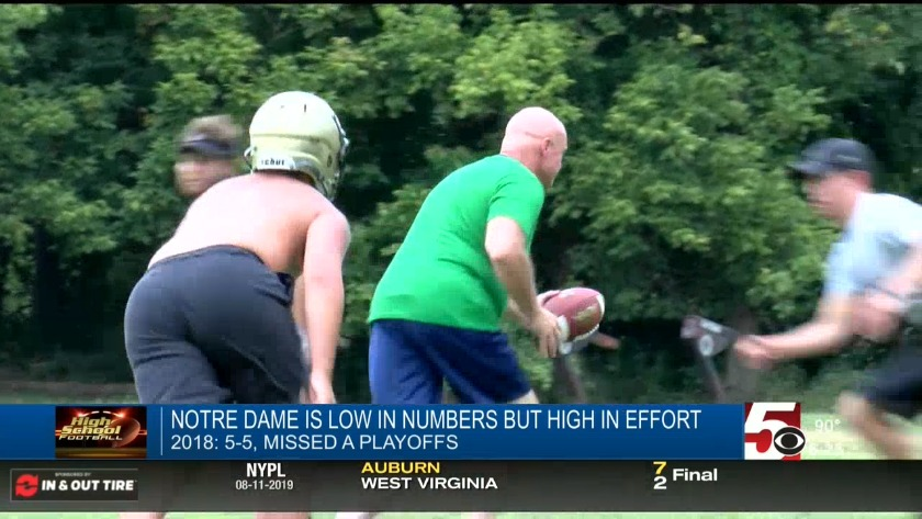 Notre Dame Low in Numbers but High in Effort
