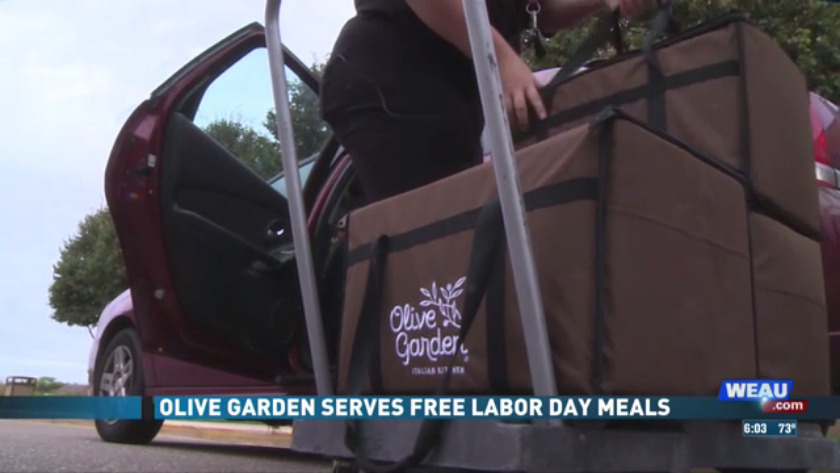 olive garden serves free meal to those serving community on labor day - Olive Garden Eau Claire