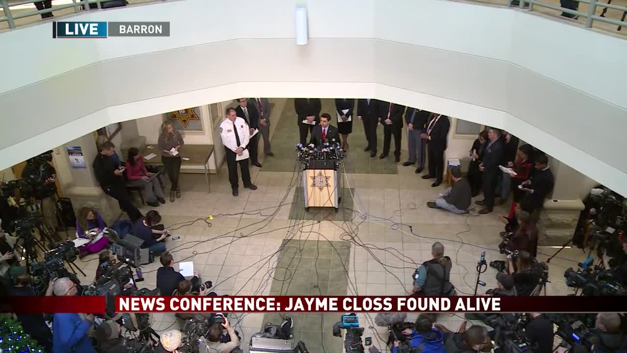 UPDATE: Jayme Closs home from hospital, suspect to appear in court