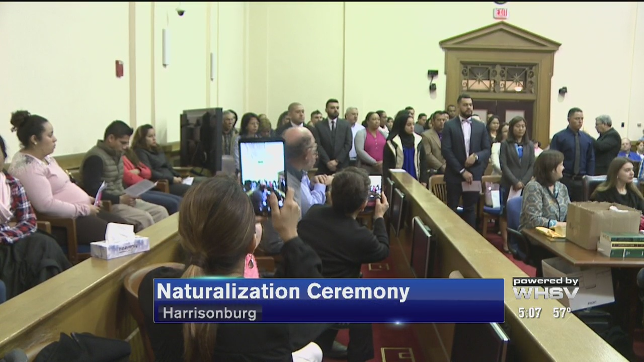 New citizens sworn in at Harrisonburg ceremony