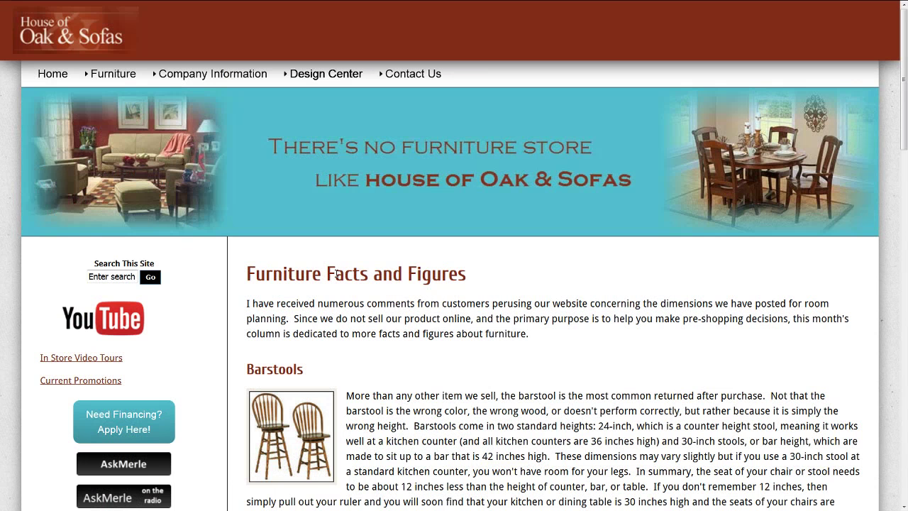 House Of Oak And Sofa: Furniture Research