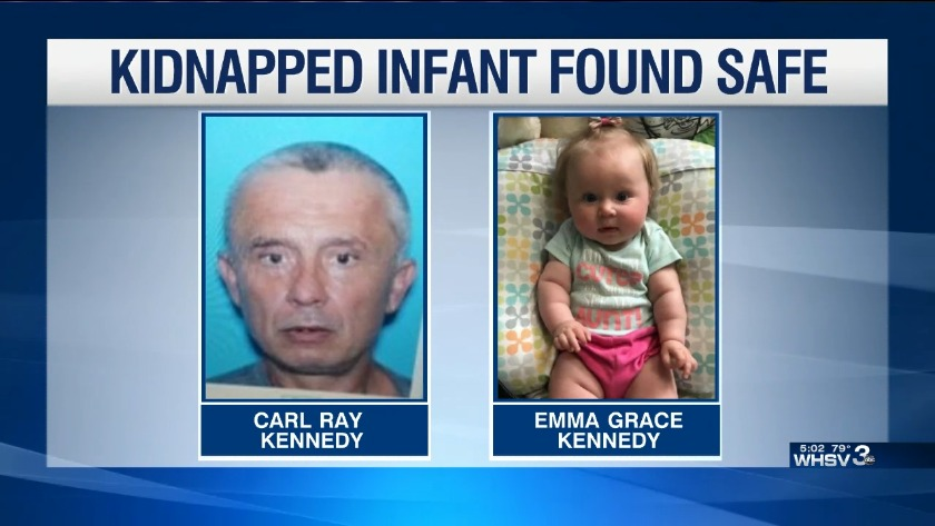 Amber Alert cancelled as baby found safe in North Carolina