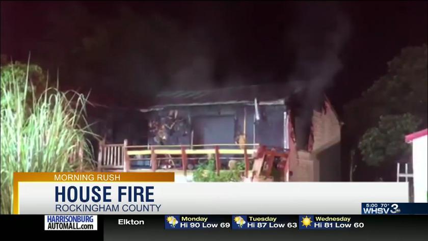 Fire in Rockingham County