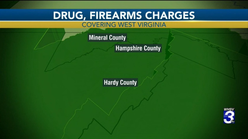 Fourteen people face myriad charges in West Virginia in drug bust