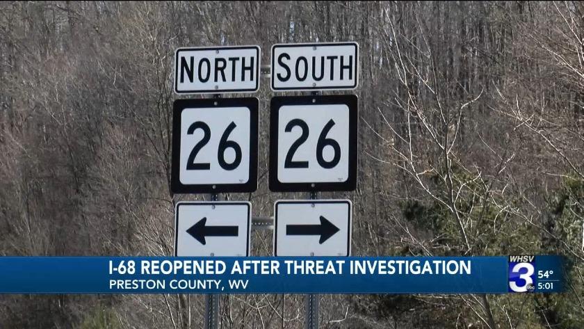 WV state police shut down Interstate 68 to arrest man