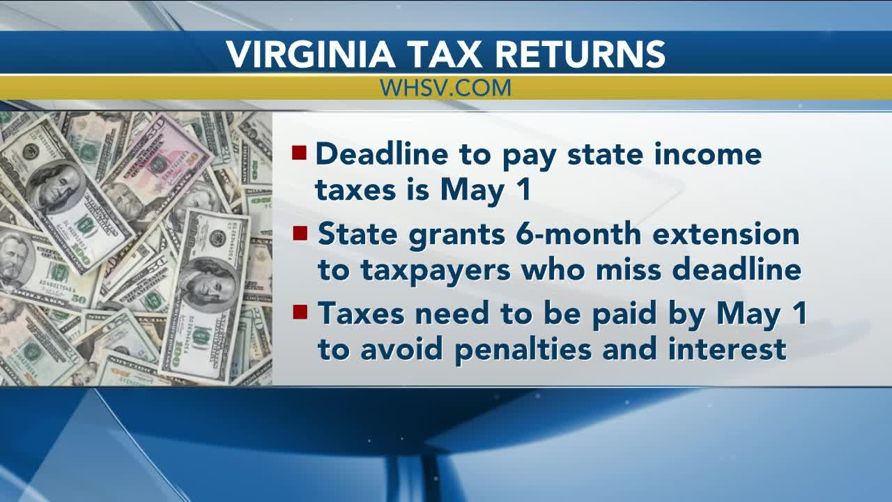 Virginia State Tax >> Taxpayers Face May 1 Deadline For Virginia State Tax Returns