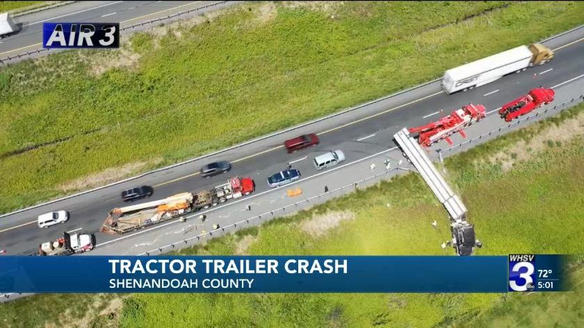 Cleanup of Shenandoah County I-81 crash will finish Wednesday night