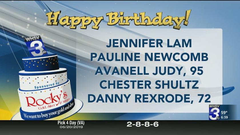Birthdays and Anniversaries - May 21