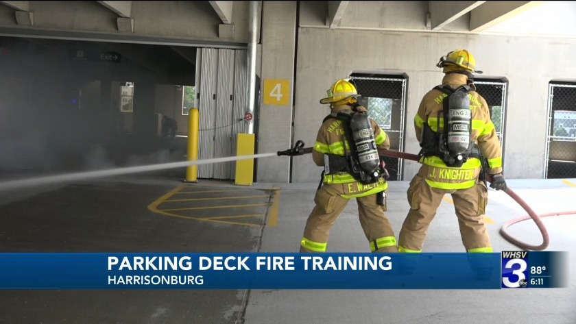 Fire training with Harrisonburg Fire Department