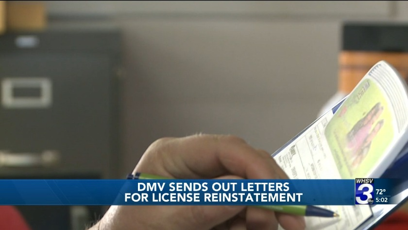 Virginia driver's licenses suspended for unpaid court fees