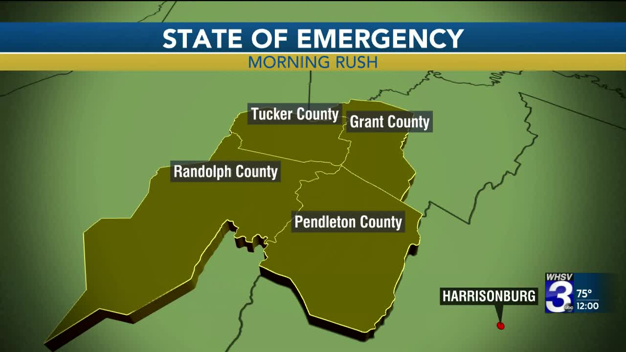Gov  Justice declares state of emergency for WV counties hit