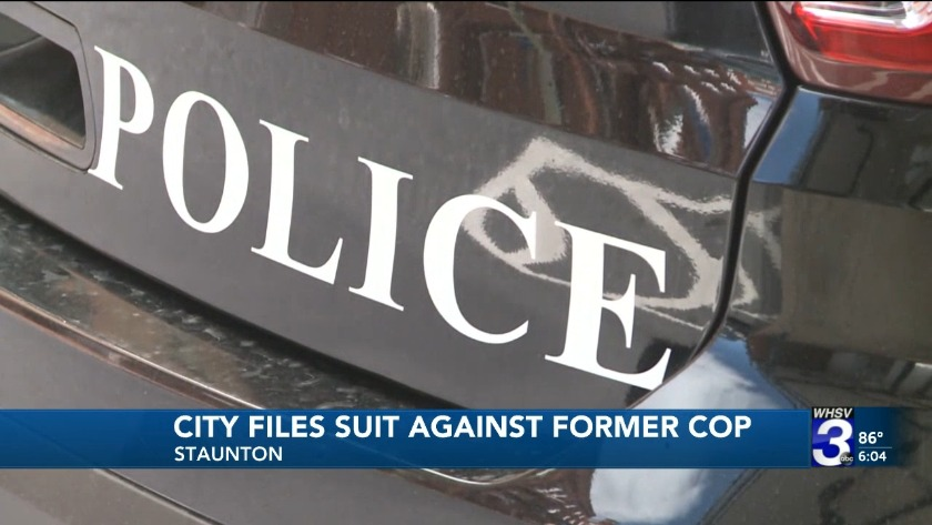Staunton files suit against former police officer