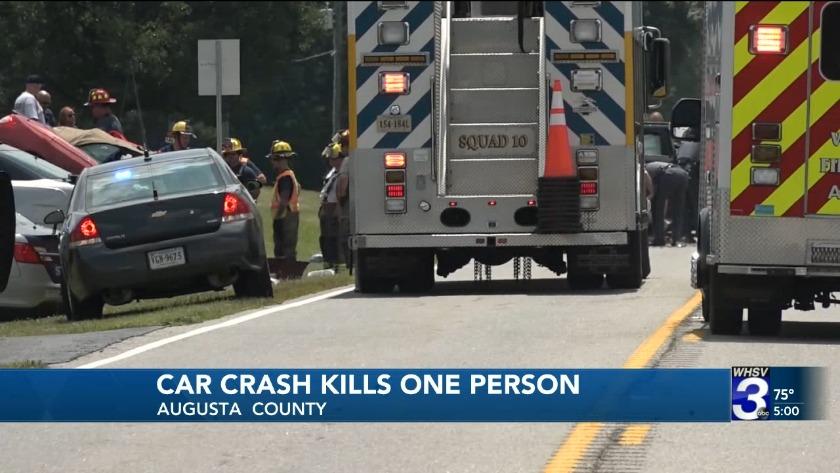 1 dead in head-on Augusta County car crash