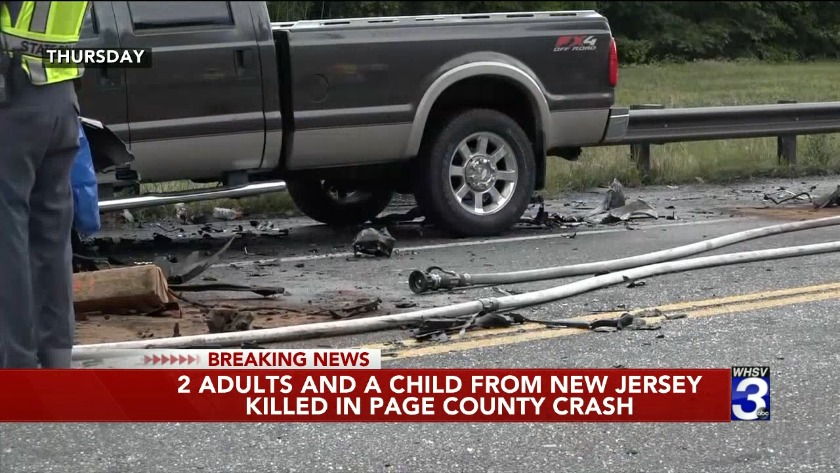 Two adults, child from New Jersey killed in crash along Rt