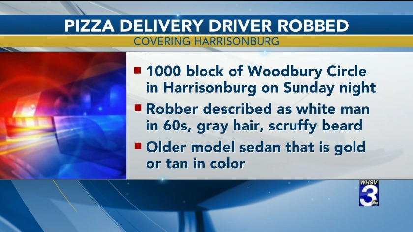 Pizza delivery driver threatened with a knife during