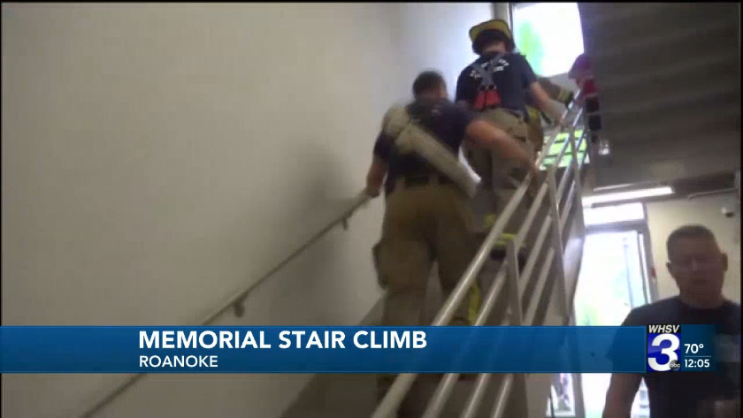 Community takes part in Roanoke's 9/11 Memorial Stair Climb