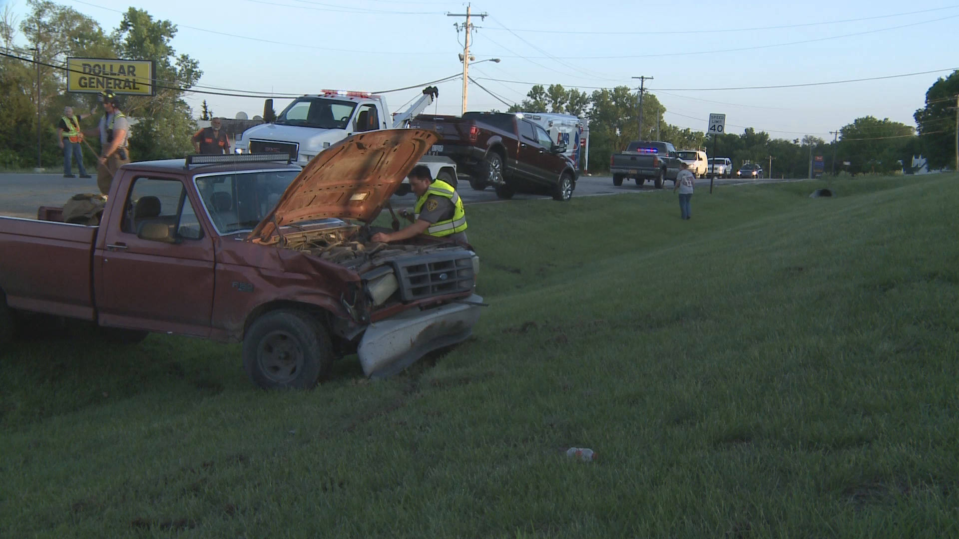 Two trucks crash on North Topeka Blvd