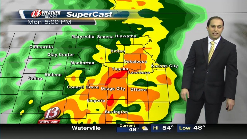 Rain by 5pm for all of northeast KS