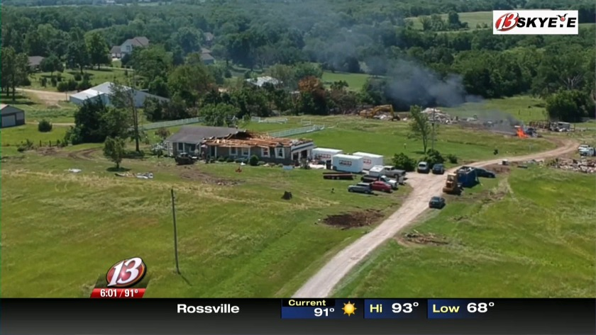 People around Lawrence continue cleaning up from an tornado