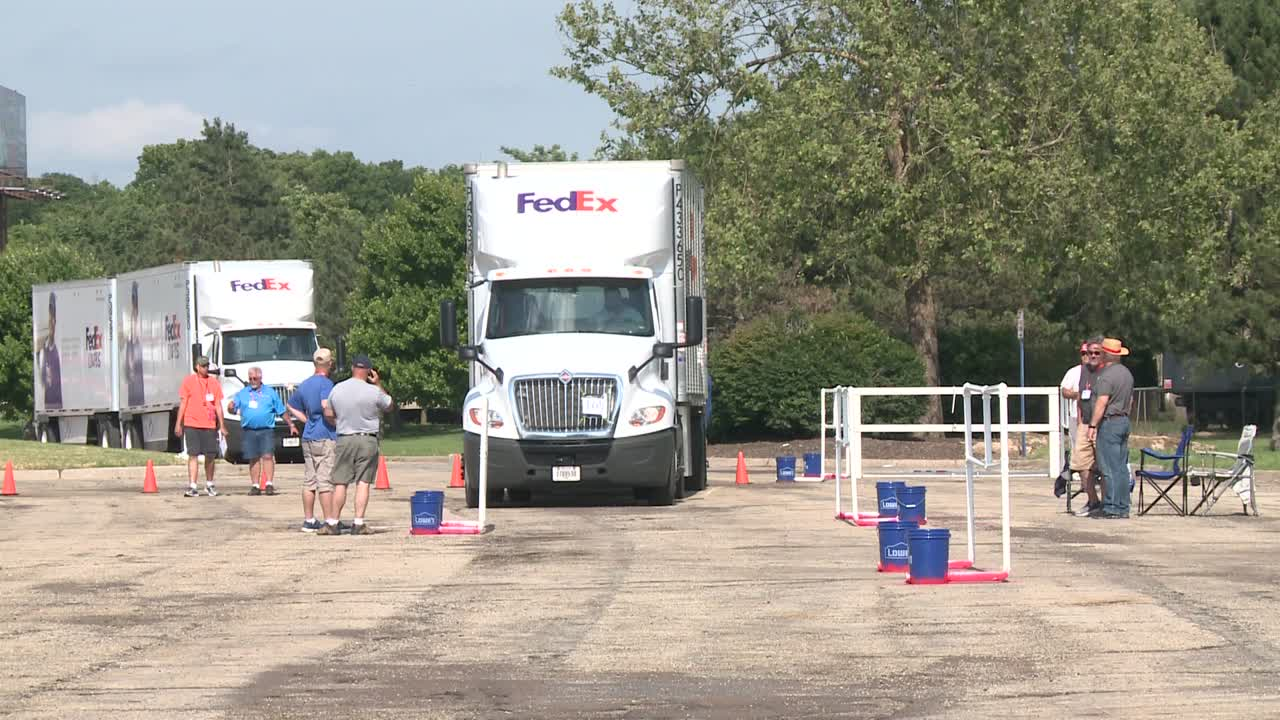 Kansas truck drivers compete at the Kansas Expocentre