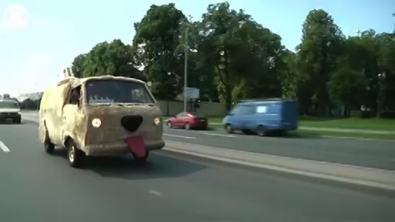WATCH: Furry dog van in Russia