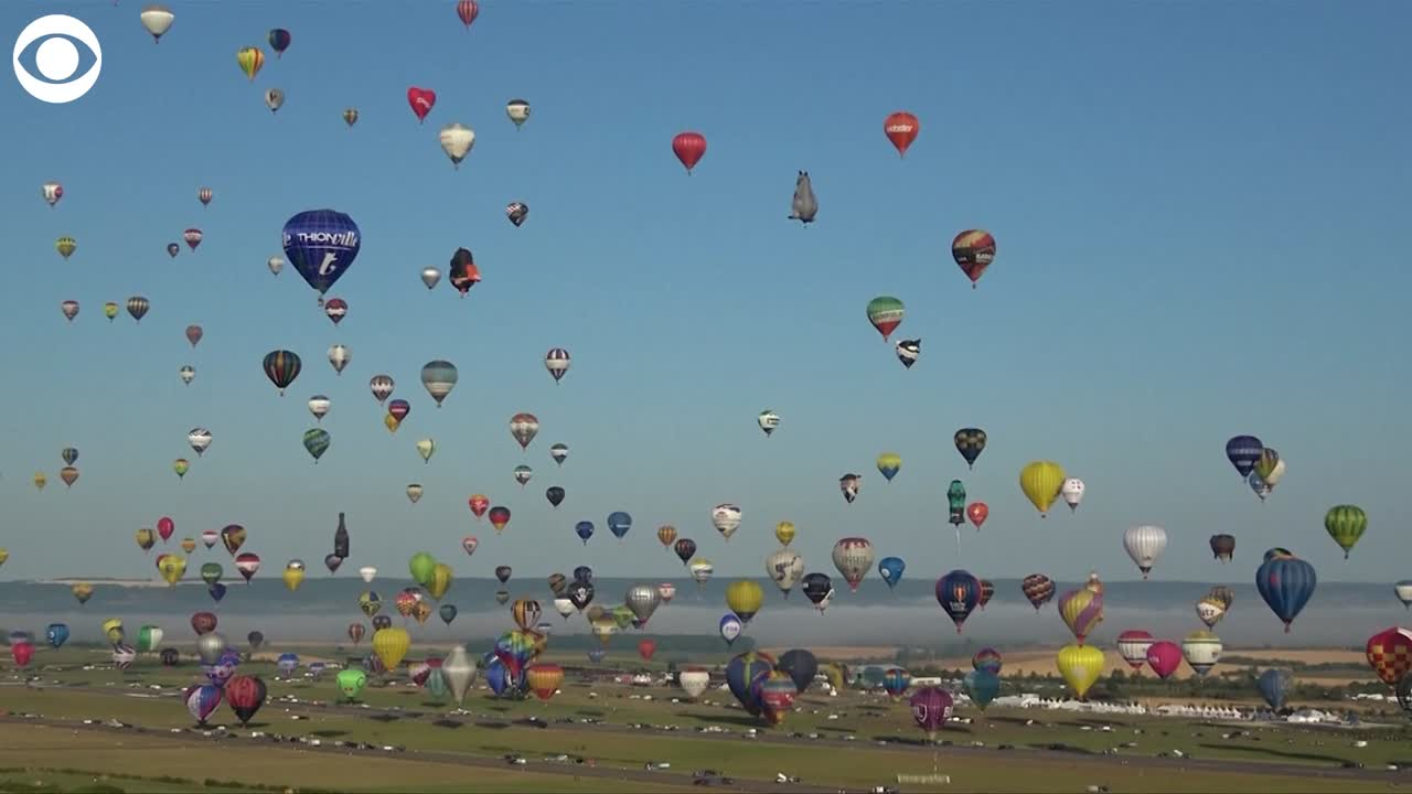 WHAT A SIGHT: Hot air balloons take off in France