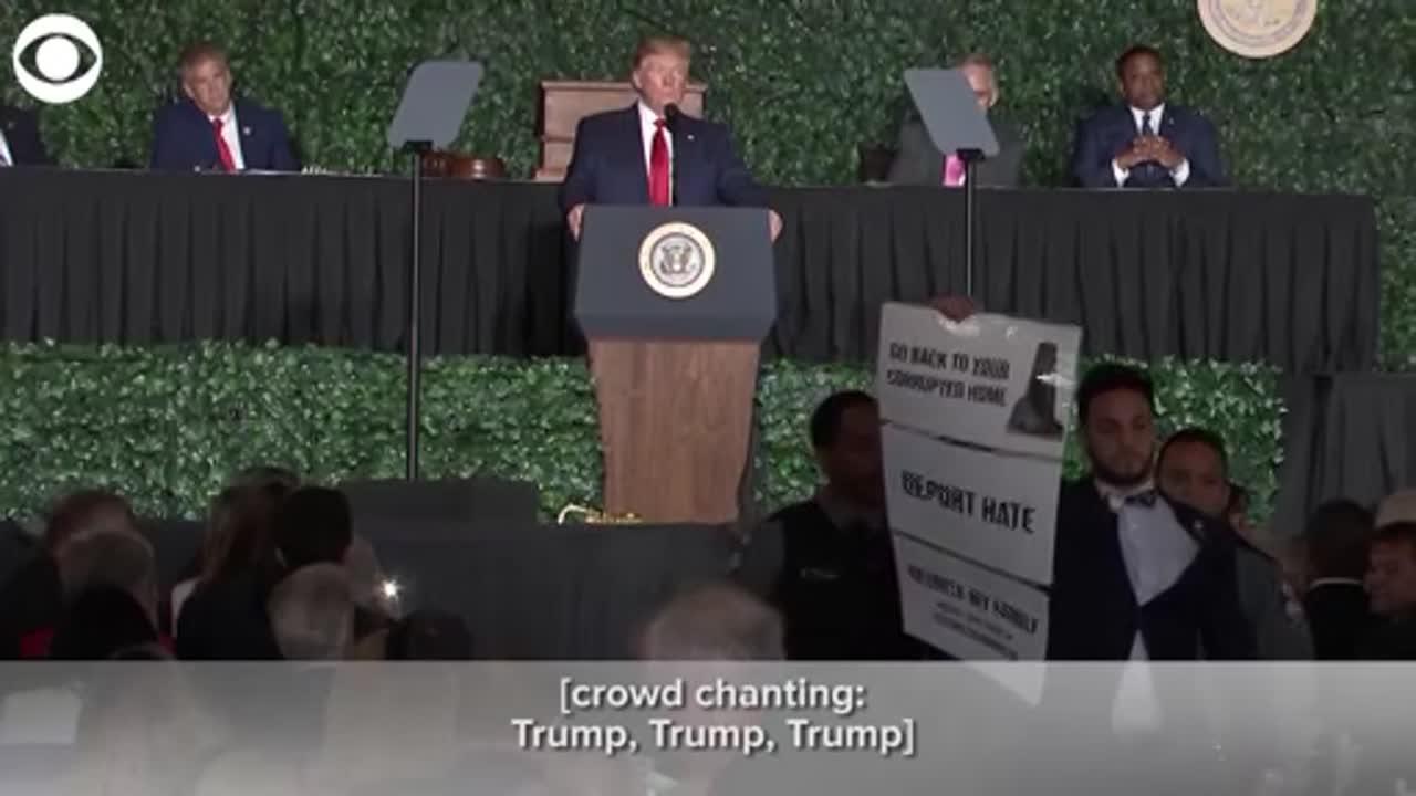 WATCH: Protester interrupts president's speech