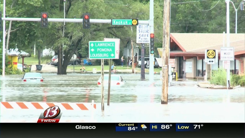 Water levels fall in rivers near Perry, lowering risk of