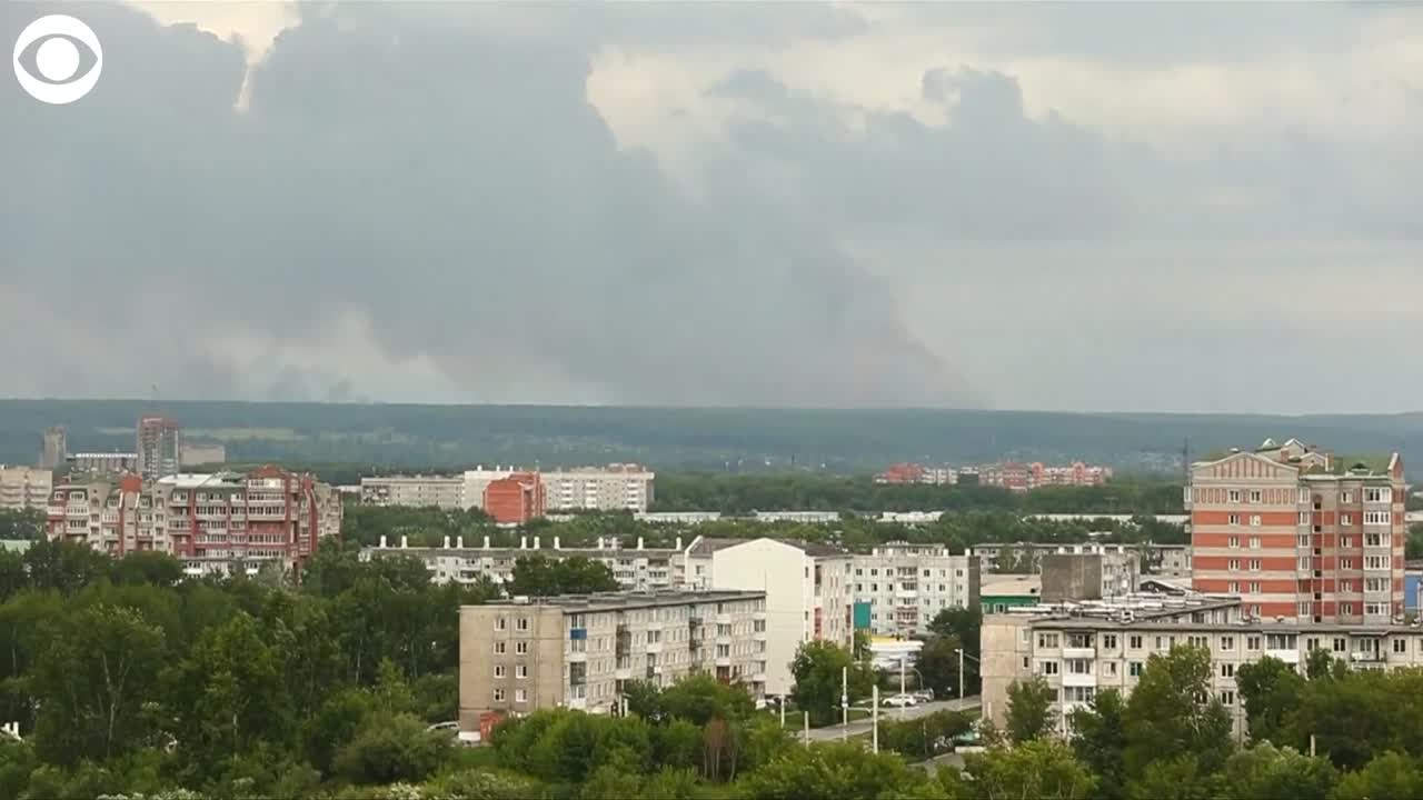 WATCH: Explosions at a Russian ammunition depot