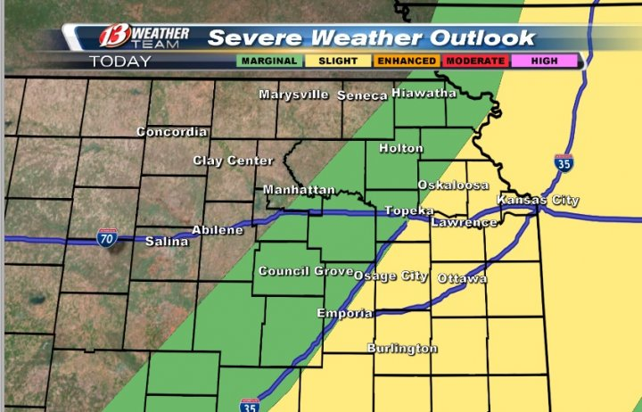 Risk for storms today