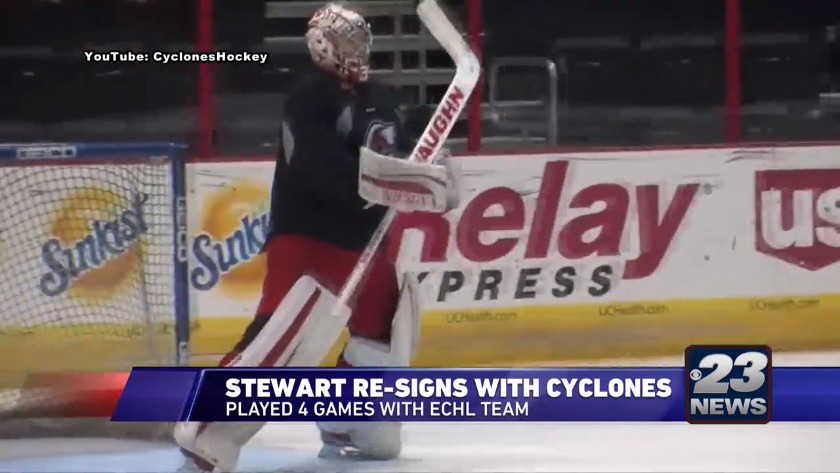 Guilford Grad Stewart Re Signs With Echl Cyclones