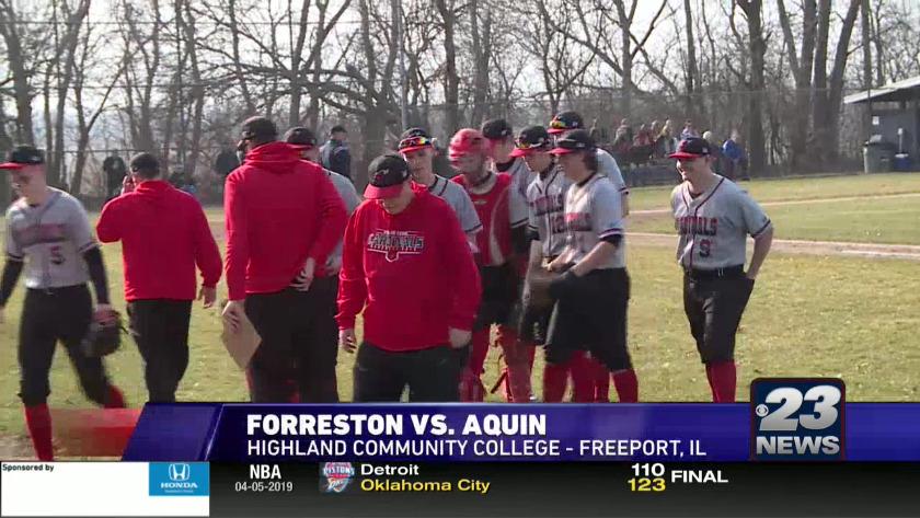Forreston vs  Aquin - Baseball