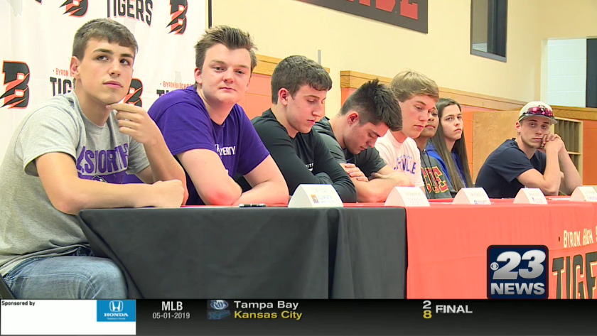 Local high school athletes sign letters of intent