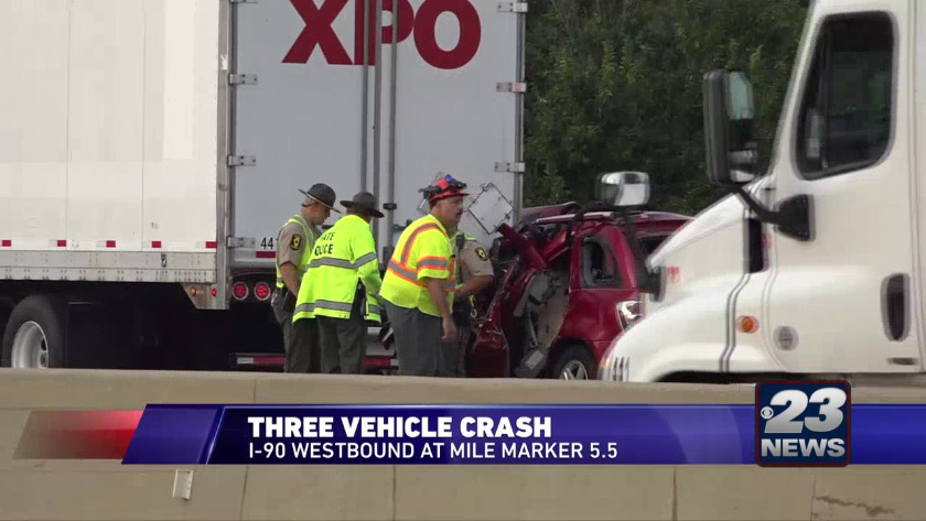 I-90 vehicle crash