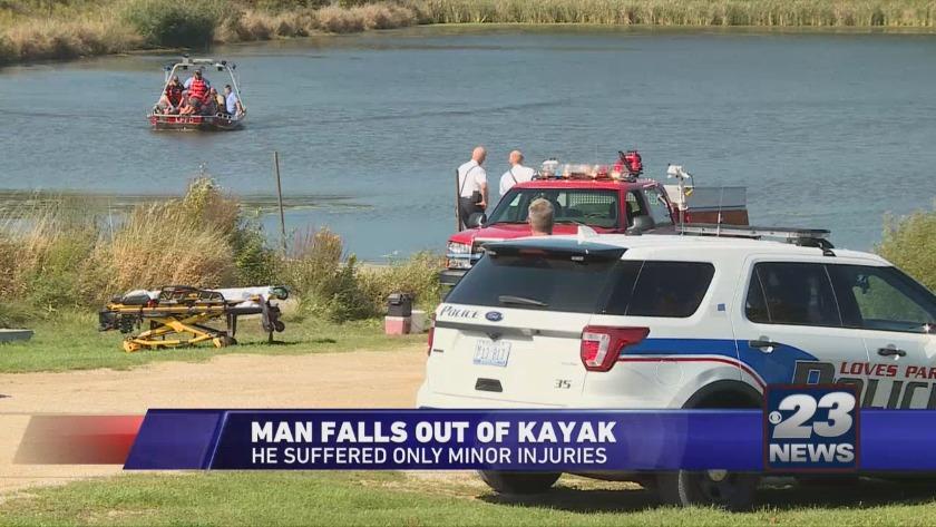 Man Rescued After Kayak Flips Over