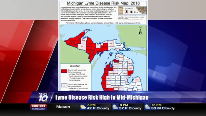 Lyme Disease Spreading In Michigan