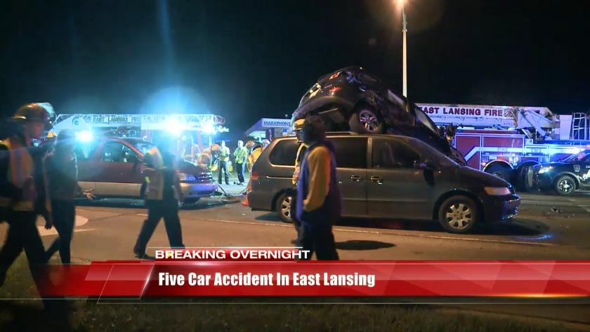 Five car crash in East Lansing