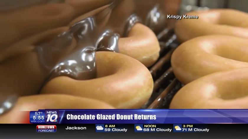 Chocolate glazed donut returns