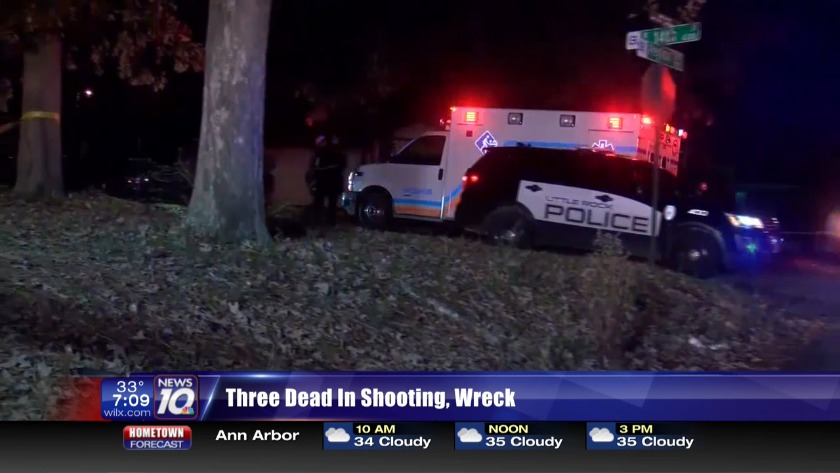 Three dead in shooting, crash in Arkansas