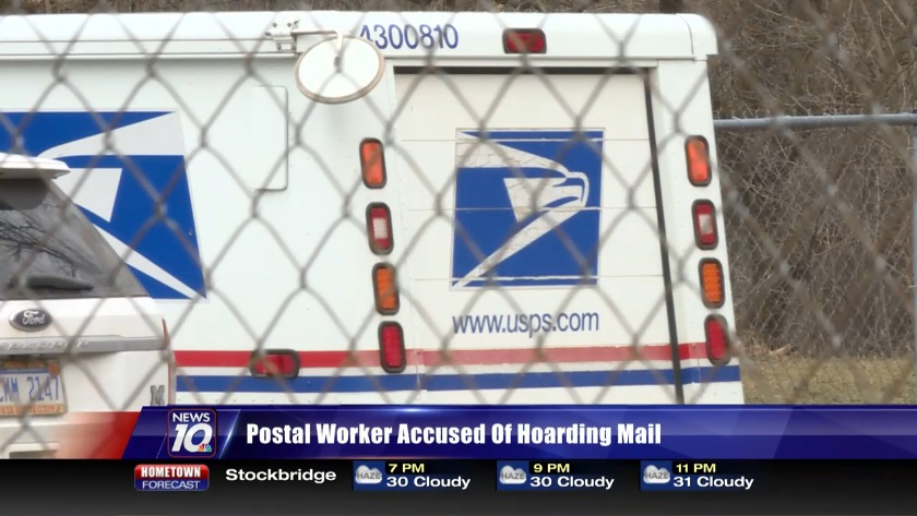 Postal worker accused of hoarding mail