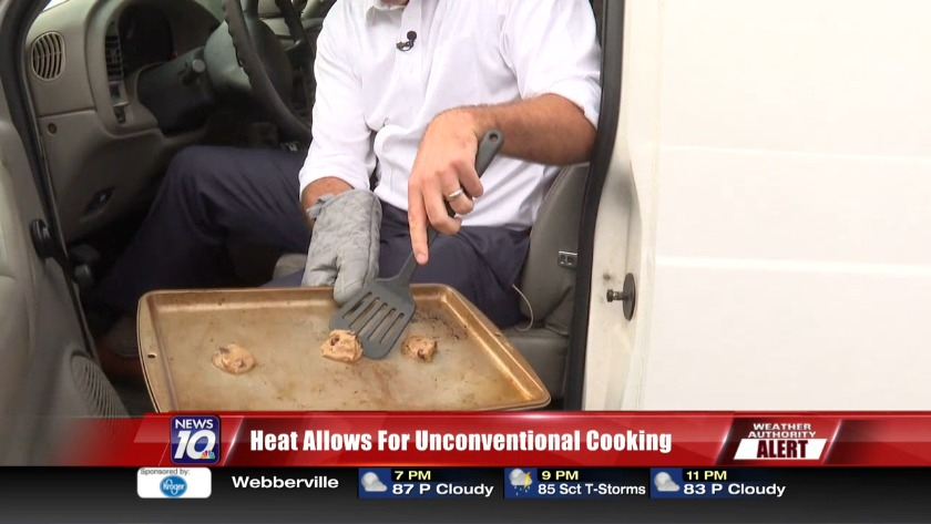 Weather Authority Brett Collar tries baking cookies in hot car