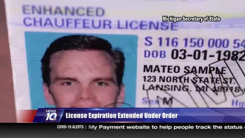 Gov. Whitmer extends driver's license expiration dates