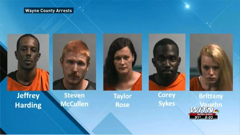 Five people charged following Wayne Co  Sheriff's Office