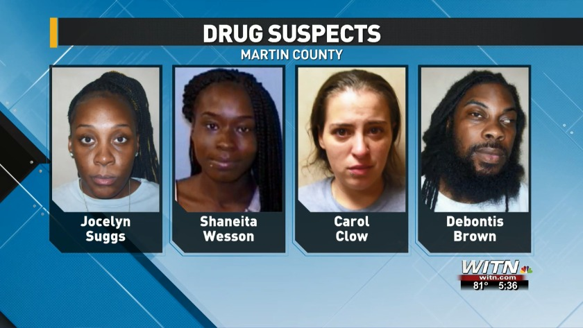 Three women, one man facing drug charges in Martin County