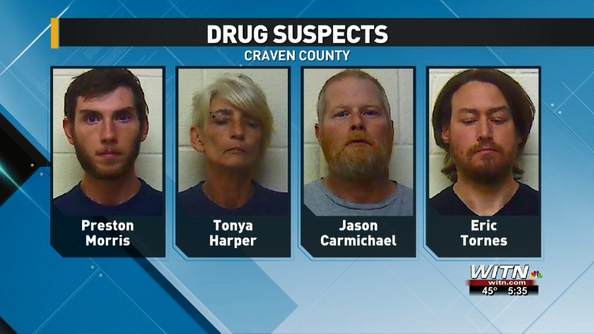 Five charged in Craven County drug bust