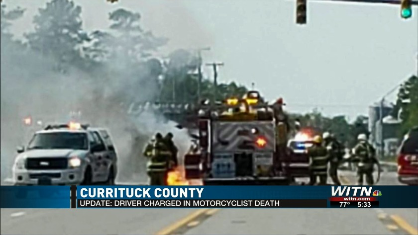 SUV driver charged in fiery crash that killed motorcyclist