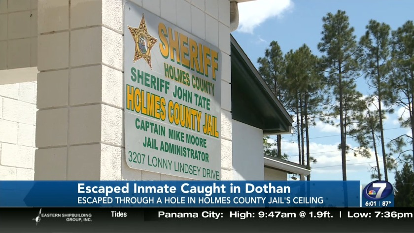 Man who escaped from Holmes County Jail caught in Dothan