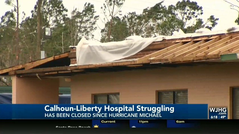 Blountstown Hospital Still In Shambles After Hurricane Michael