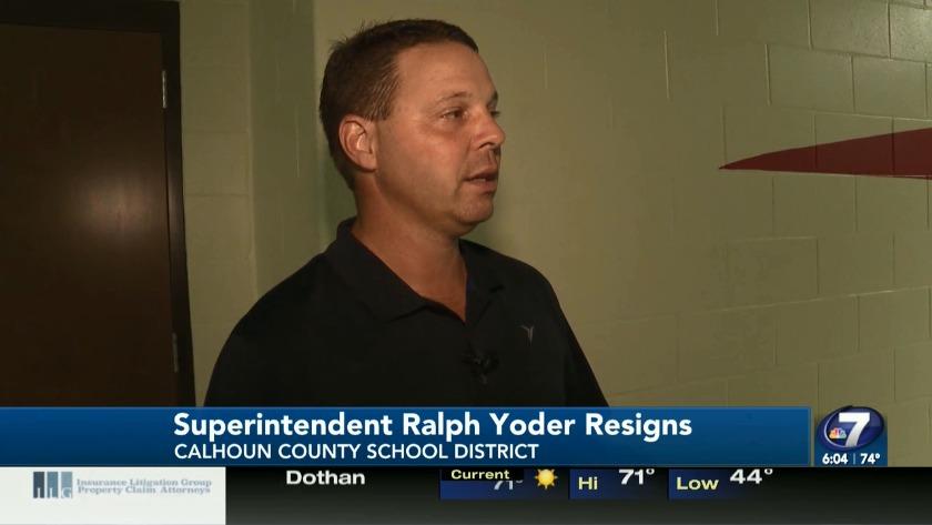 Superintendent of Calhoun County School District Ralph Yoder steps down