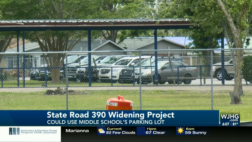 State Road 390 widening project could temporarily use space from